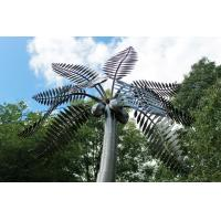 China Large Metal Garden Ornaments , Stainless Steel Palm Tree Sculpture on sale