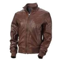 Buy cheap customized black Windproof cowhide mens stylish genuine leather jackets product