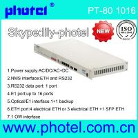 Buy cheap 4/8/16E1+Ethernet+Rs232 PDH Multiplexer from wholesalers