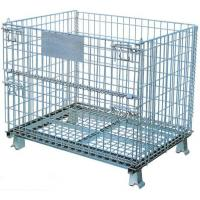 Buy cheap Collapsible Wire Mesh Container Basket Stillage Cage Storage Pallet Bin Stackable from wholesalers