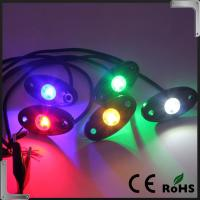 Buy cheap RGB Bluetooth Control 9-32V DC Led Rock Light , IP68 Jeep Off Road Rock Lights product