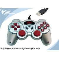 Buy cheap Dual shock silver / black USB  Game Controllers gamepad with 12 fire buttons from wholesalers