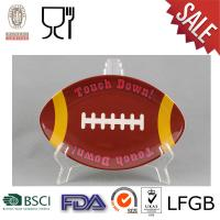 Buy cheap Melamine Football Shaped Plate from wholesalers
