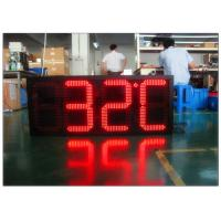 Buy cheap Digital Clock Remote Tri Color Gas Station LED Signs Ultra Thin High Brightness from wholesalers