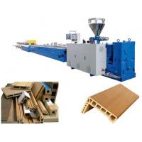 Buy cheap WPC door Profile Extrusion Line / wood plastic door panel machine from wholesalers