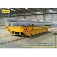 Buy cheap PLC Controlled Battery Transfer Cart Rail Drive Steel Platform Motorized Wagon from wholesalers