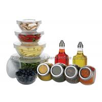 Buy cheap 11 pcs Eco - friendly  clear glass salad bowl set for fruit ,  ice cream product