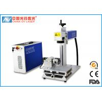 Buy cheap Fiber Rotary MOPA Laser Marking Machine for Cylinder Steel and Pipe with XY Movable Table from wholesalers