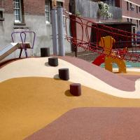 Buy cheap Bright Color EPDM Granules Rubber Playground Mats from wholesalers