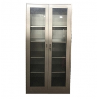 Buy cheap Office Furniture 2 Glass Sliding Door File Cabinet Metal Storage Cabinet from wholesalers