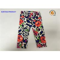 Buy cheap Rose Print Cute Baby Girl Leggings Lycra Jersey No Side Seam Pant SGS Approved from wholesalers