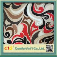 Buy cheap Washable Polyester Sofa Upholstery Fabric Velour Printing Design product