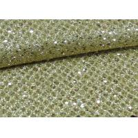 Buy cheap Foil Plain Polyester Glitter Stretch Mesh Fabric For Making Shoes Bags Wall Paper from wholesalers