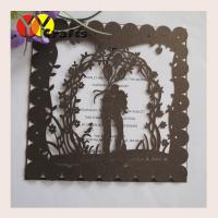 Buy cheap Lovely Laser Cut  Wedding Invitation Card Printing Traditional Square from wholesalers