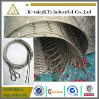 Buy cheap 304 Hand-woven Stainless Steel Wire Rope Mesh for stair frames from wholesalers