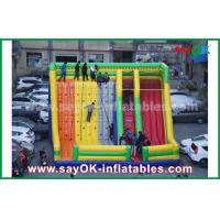 Buy cheap 9.5*7.5*6.5m colorful inflatable bouncer slide with climbing wall for amusement park from wholesalers