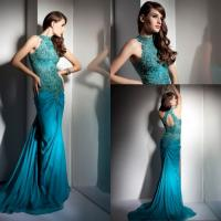 Buy cheap Vintage Mermaid Sheer Lace Halter Long Evening Gowns for Summer , Spring from wholesalers