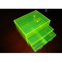 Buy cheap Fluorescence Green Acrylic Jewelry Display Case Non-Toxicity With Drawers product