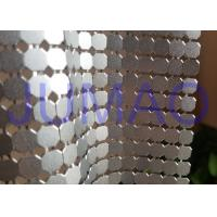 Buy cheap 8 Mm Corrosive Resistance Silver Metal Fabric Colorful Rings Room Divider product