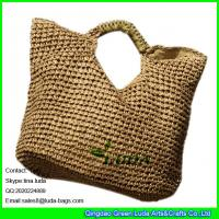Buy cheap LUDA  large women crochet shopper bag  fashion hobo straw paper straw tote bag from wholesalers