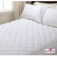 Buy cheap Queen Size Zippered Quilted White Microfiber Hotel Mattress Cover from wholesalers