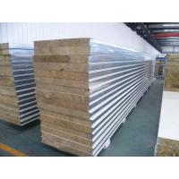 Buy cheap White Insulated Sandwich Panels , Fireproof Rock Wool Sandwich Panel from wholesalers