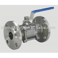 Buy cheap 304 Handle 3 Piece Stainless Steel Ball Valve Food Grade PTFE Sealing Type from wholesalers