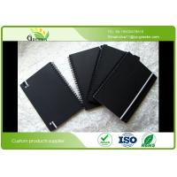 Buy cheap Custom Ruled Black Cardboard Hardcover Spiral Notebook for School / Office from wholesalers