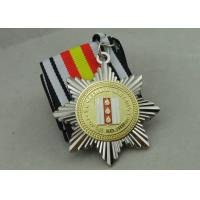 Buy cheap Two Tones Plating Ribbon Medals For Russia Military, 3D Zinc Alloy With Soft Enamel from wholesalers