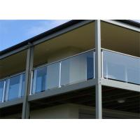 Buy cheap Balcony Stainless Steel Glass Balustrade , Stainless Steel Railing With Glass Designs from wholesalers