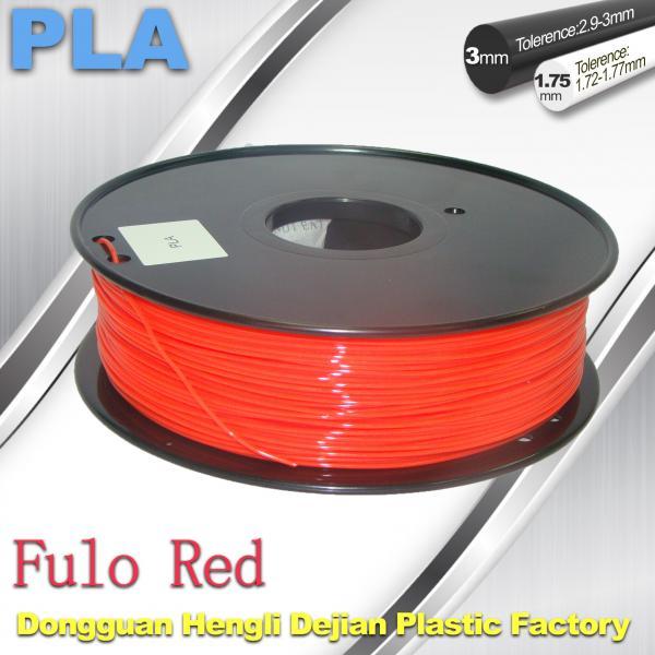 Buy cheap 1.75 / 3mm Fluorescent Filament   PLA Fluo filament  bright color filament from wholesalers