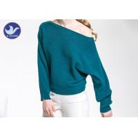 Buy cheap Sexy Off Shoulder Wool Pullover Women's , Woolen Sweater For Ladies Ottoman Knitted from wholesalers