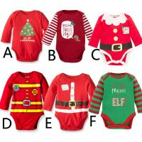 Buy cheap Long Sleeves Cute Newborn Baby Clothes Infant Christmas Romper Winter from wholesalers