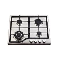 Sliver 4 Burner Gas Hob Stainless Steel , 4 Burner Gas Stove Top Home Appliances
