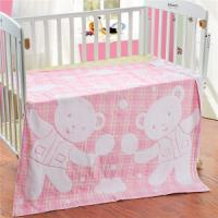 Buy cheap cotton soft satin baby towel blanket with bear cartoon from wholesalers