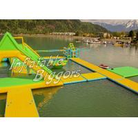 Buy cheap Residential Lake River Floating Inflatable Water Park Double Stitch With Durable Vinyl from wholesalers
