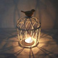 Buy cheap New bird nest Pressed white Metal Moroccan Candle Holder Lamp Lantern from wholesalers