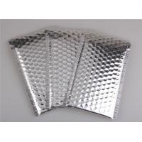 Buy cheap Aluminum Foil Metallic Bubble Mailers Silver Color Self Sealing For Postal Packaging product