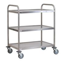 Buy cheap Hospital Medical Stainless Steel Surgical Trolley Adjustable Every Shelf Height from wholesalers