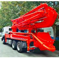 Buy cheap 6x4 HOWO Cement Boom Truck , 37 / 39 Meter Boom Height Cement Pump Truck from wholesalers