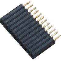 Buy cheap 1*12P H=8.5 Female Header Connector Connector 1.27 Mm Pitch Phosphor Bronze from wholesalers