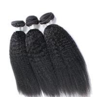 Buy cheap Kinky Straight 8A Grade Virgin Human Hair Bundles No Smell Hair Extension Natural Black product