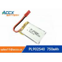 Buy cheap rc helicopter battery 3.7v 902540 li polymer battery 750mah 25C high rate battery pl902530 from wholesalers