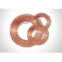 Buy cheap TP2 Soft Copper Pipe Copper Pancake Coil , Refrigeration Copper Pipe 0.35-1.20mm Thick from wholesalers