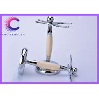 Buy cheap Safety Shaving Brush And Razor Stand with Stainless steel ivory acrylic  material from wholesalers