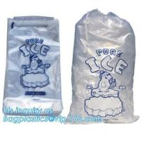 Buy cheap LDPE ice bag on roll, eco-friendly Wicket ice bags, HDPE/LDPE ice packing freezer bags on roll, summer cooler ldpe plast from wholesalers