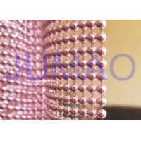 Buy cheap Pink Steel Ball Curtain, Architectural Decorative Ball Chain Beaded Curtain product