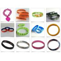 Eco - Friendly Embossed Promotional Rubber Bracelets / Custom Silicone Wristbands