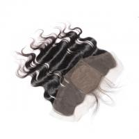 Buy cheap Peruvian Body Wave 13x4 Lace Closure , Silk Base Lace Frontal Closure With Baby Hair from wholesalers