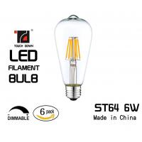 Buy cheap Hotel Old Style Filament Light Bulbs High Color Rendering Mercury Free from wholesalers